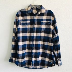 JACHS Brawny Plaid Heavy Flannel Shirt